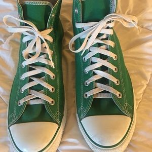Men's Green High Top Converse